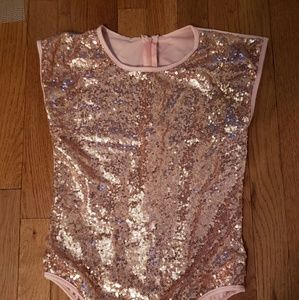unbranded Accessories - NWOT Rose Gold sequin bodysuit